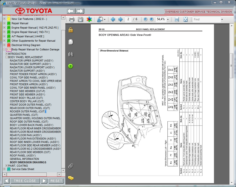 2001 toyota echo owners manual