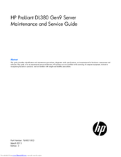 hp dl380 g6 service manual