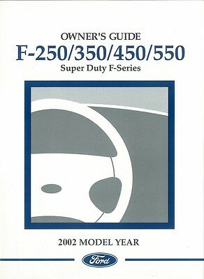 2001 ford f550 owners manual